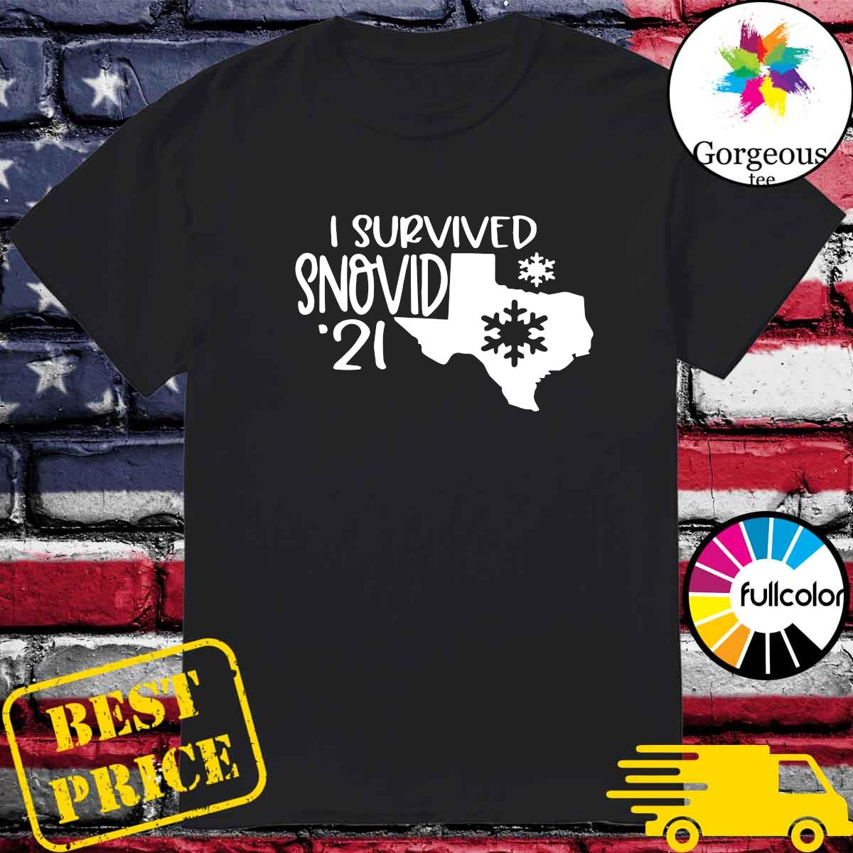 Official I Survived Snovid - 21 Maps Tee Shirt