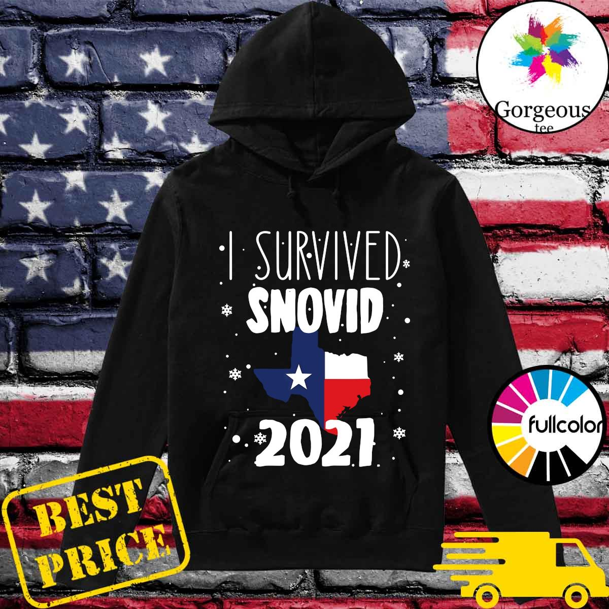 Official I Survived Snovid Maps Texas 2021 Shirt Hoodie