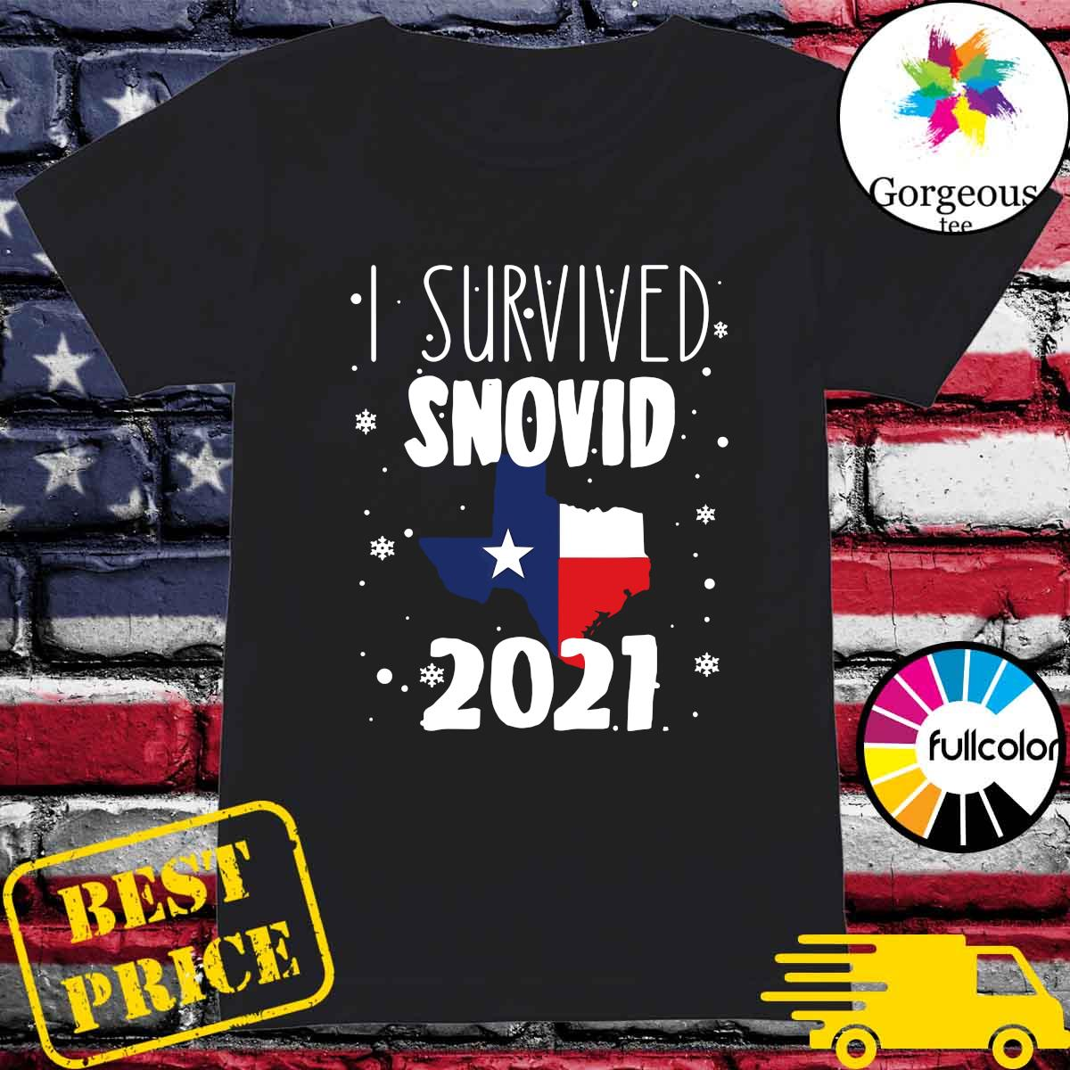 Official I Survived Snovid Maps Texas 2021 Shirt Ladies