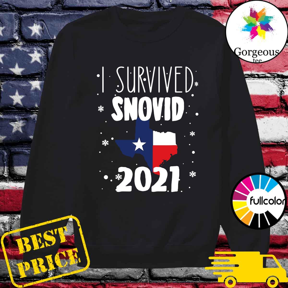 Official I Survived Snovid Maps Texas 2021 Shirt Sweater
