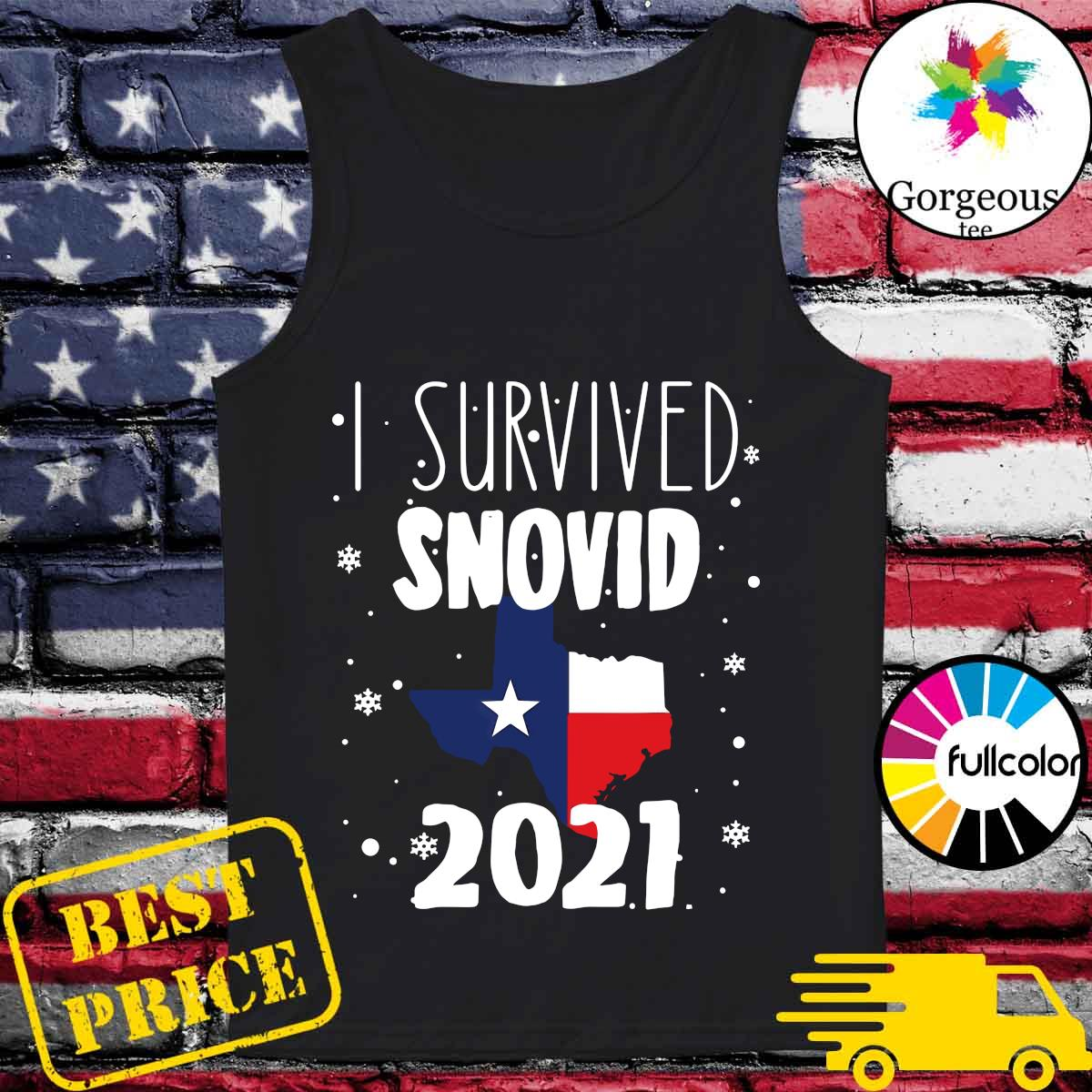 Official I Survived Snovid Maps Texas 2021 Shirt Tank-top