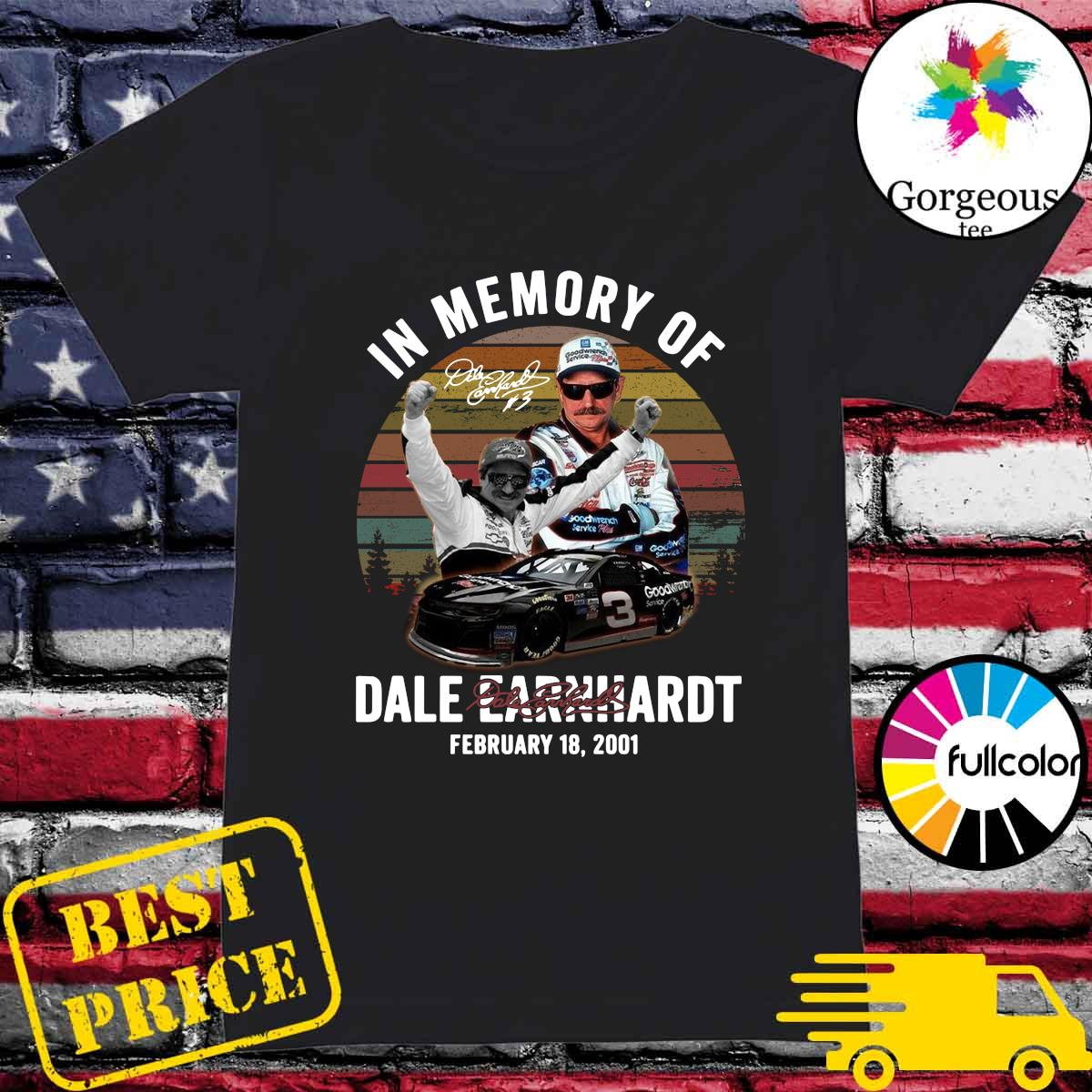 Official In The Memory Of Dale Earnhardt Signature Vintage Shirt Ladies