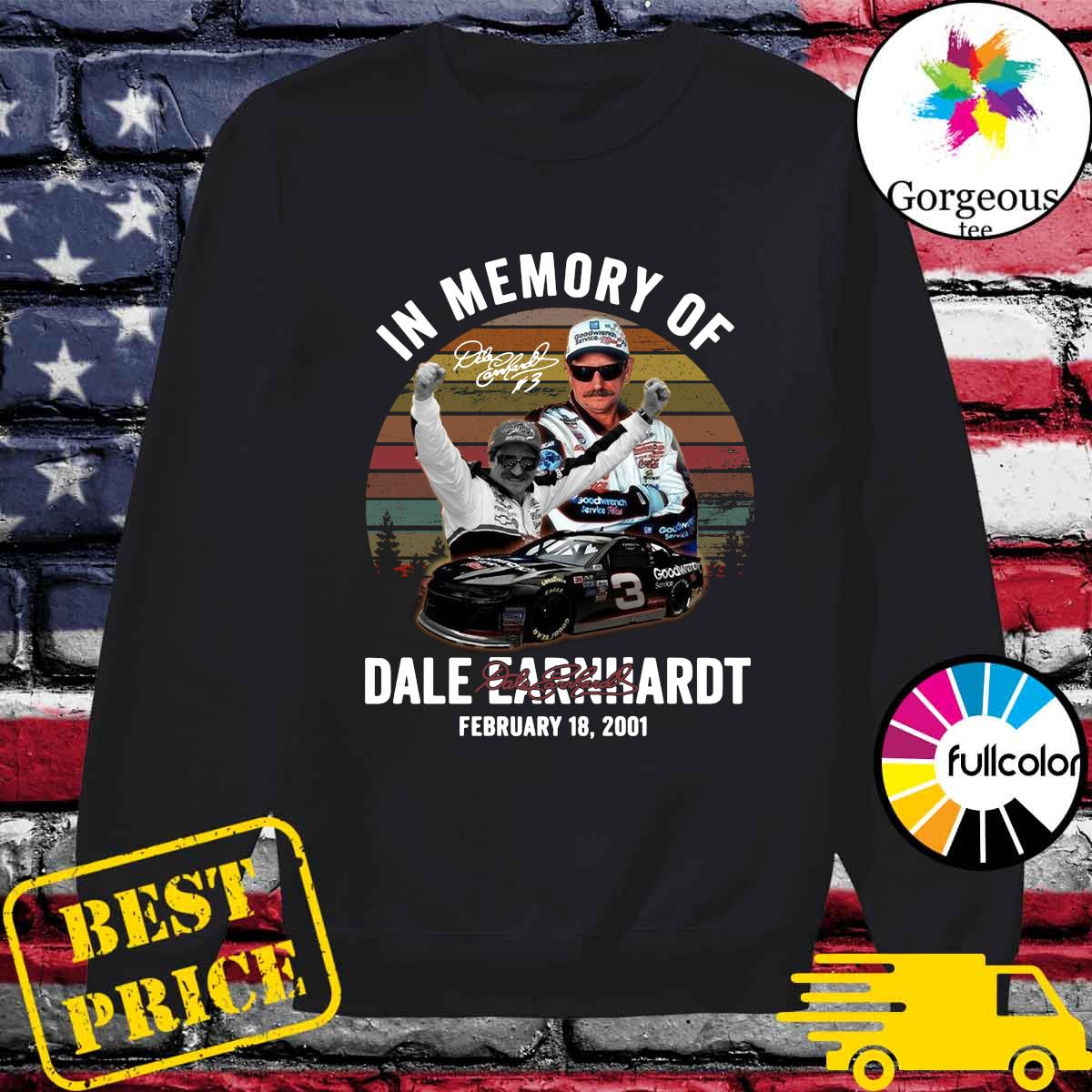Official In The Memory Of Dale Earnhardt Signature Vintage Shirt Sweater