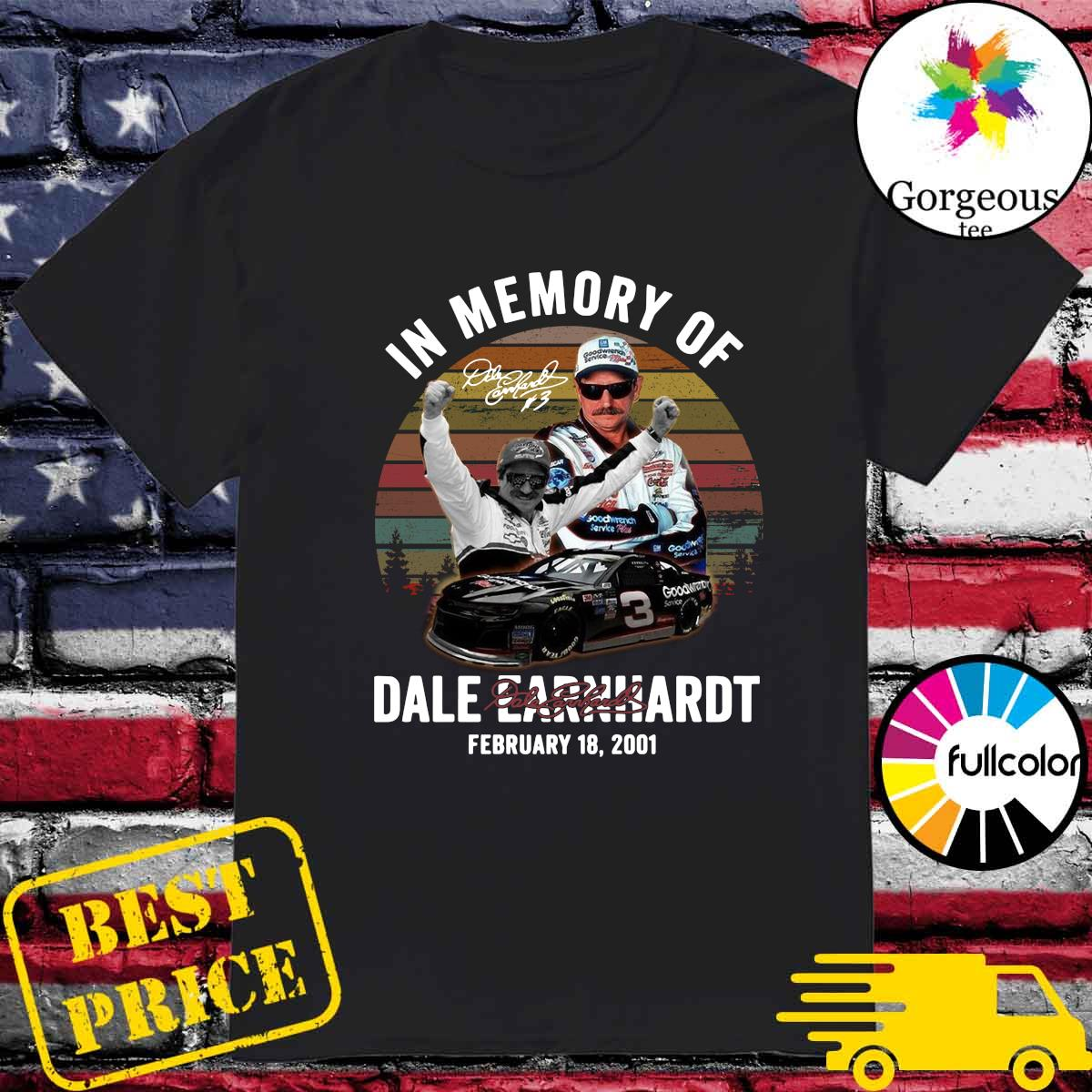 Official In The Memory Of Dale Earnhardt Signature Vintage Shirt