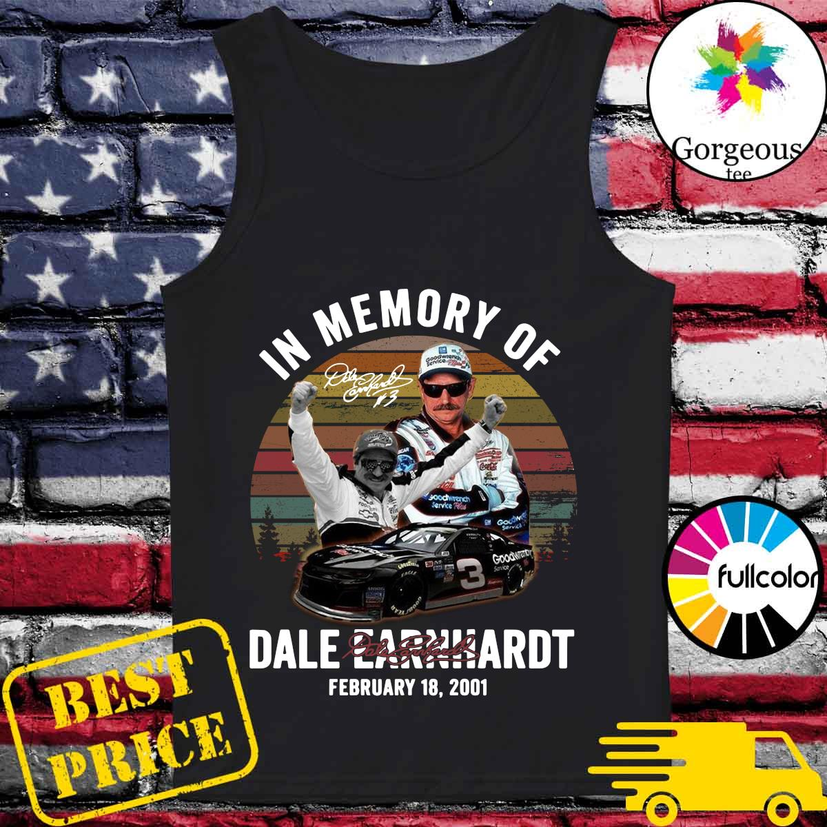 Official In The Memory Of Dale Earnhardt Signature Vintage Shirt Tank-top