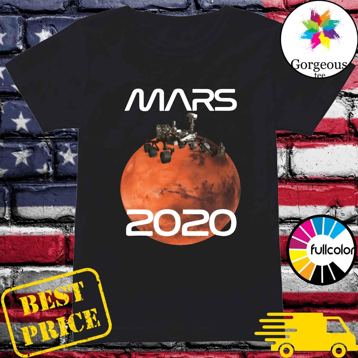 Official Mars 2020 NASA Rover Mission T-Shirt Ladies