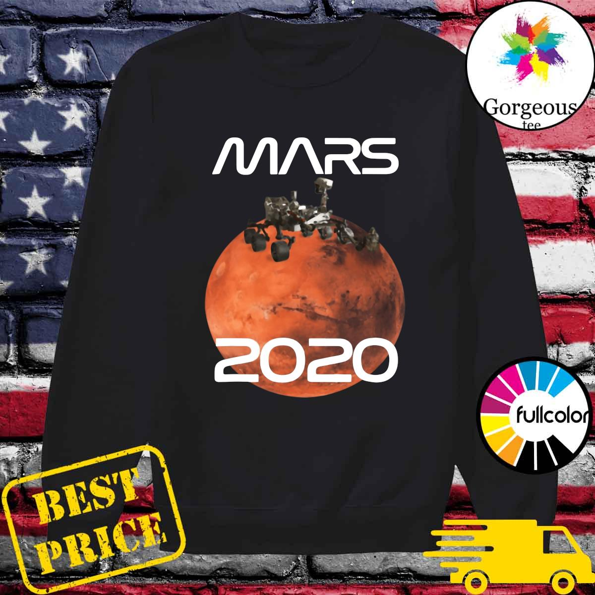 Official Mars 2020 NASA Rover Mission T-Shirt Sweater