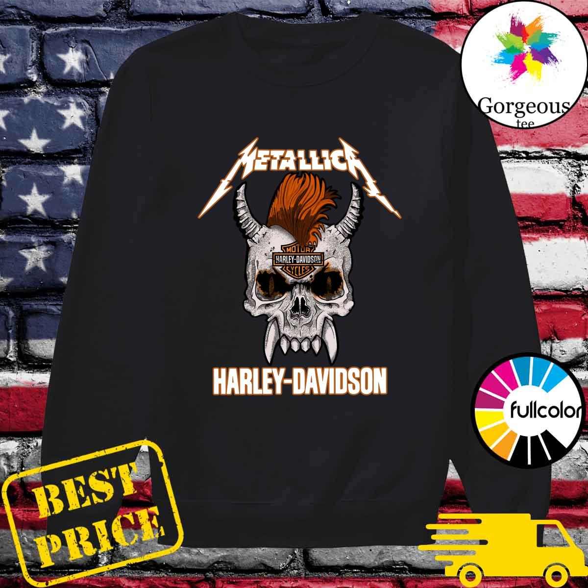 Official Metallica Of Motor Harley Davidson Cycles Shirt Sweater
