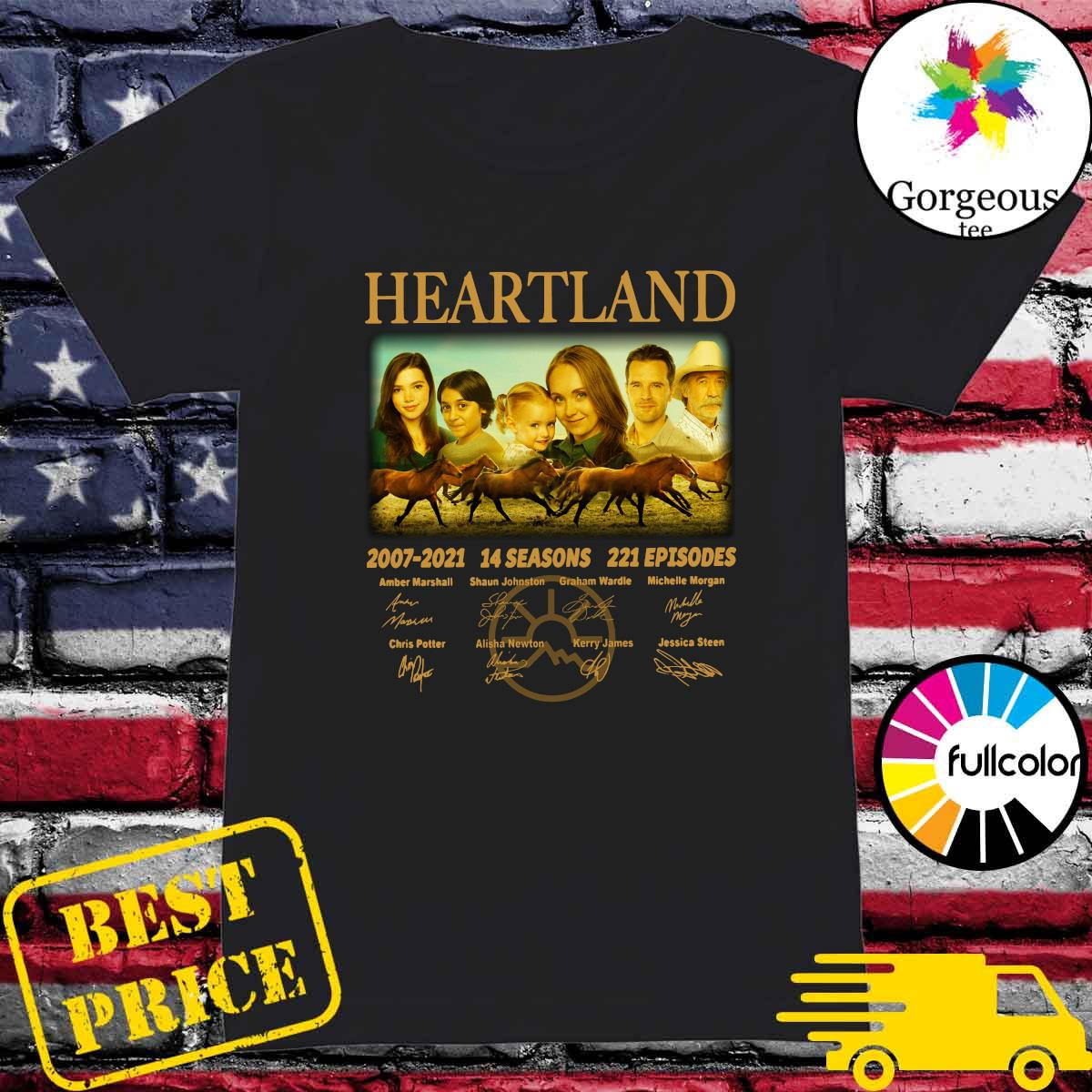Official The Heartland Movie 2007 2021 14 Seasons 221 Episodes Signatures Shirt Ladies