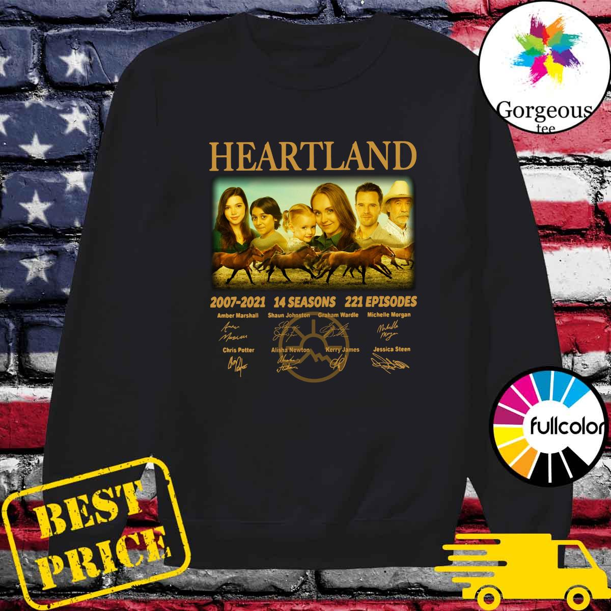 Official The Heartland Movie 2007 2021 14 Seasons 221 Episodes Signatures Shirt Sweater