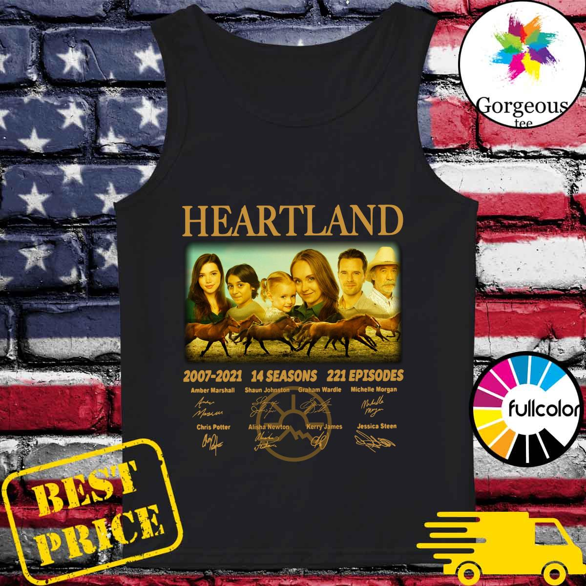 Official The Heartland Movie 2007 2021 14 Seasons 221 Episodes Signatures Shirt Tank-top