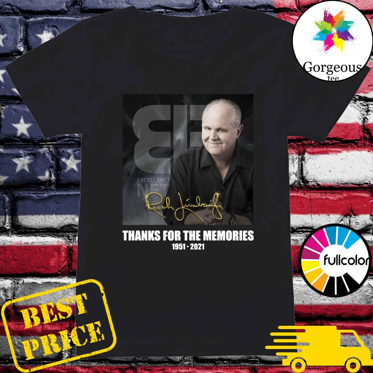 Official The Rush Limbaugh Signature Thanks For The Memories Shirt Ladies