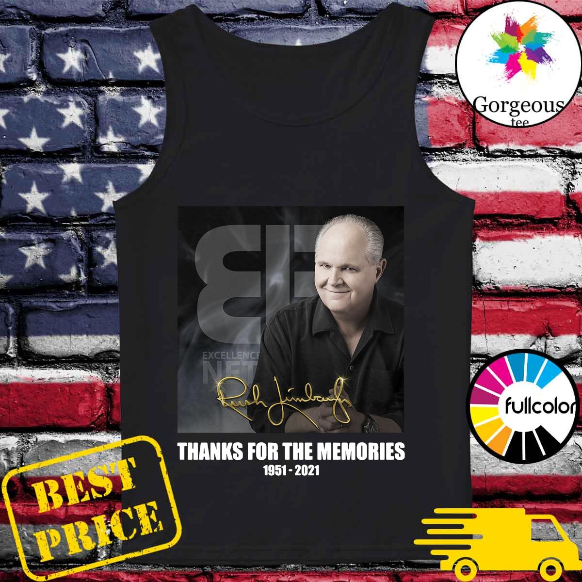 Official The Rush Limbaugh Signature Thanks For The Memories Shirt Tank-top