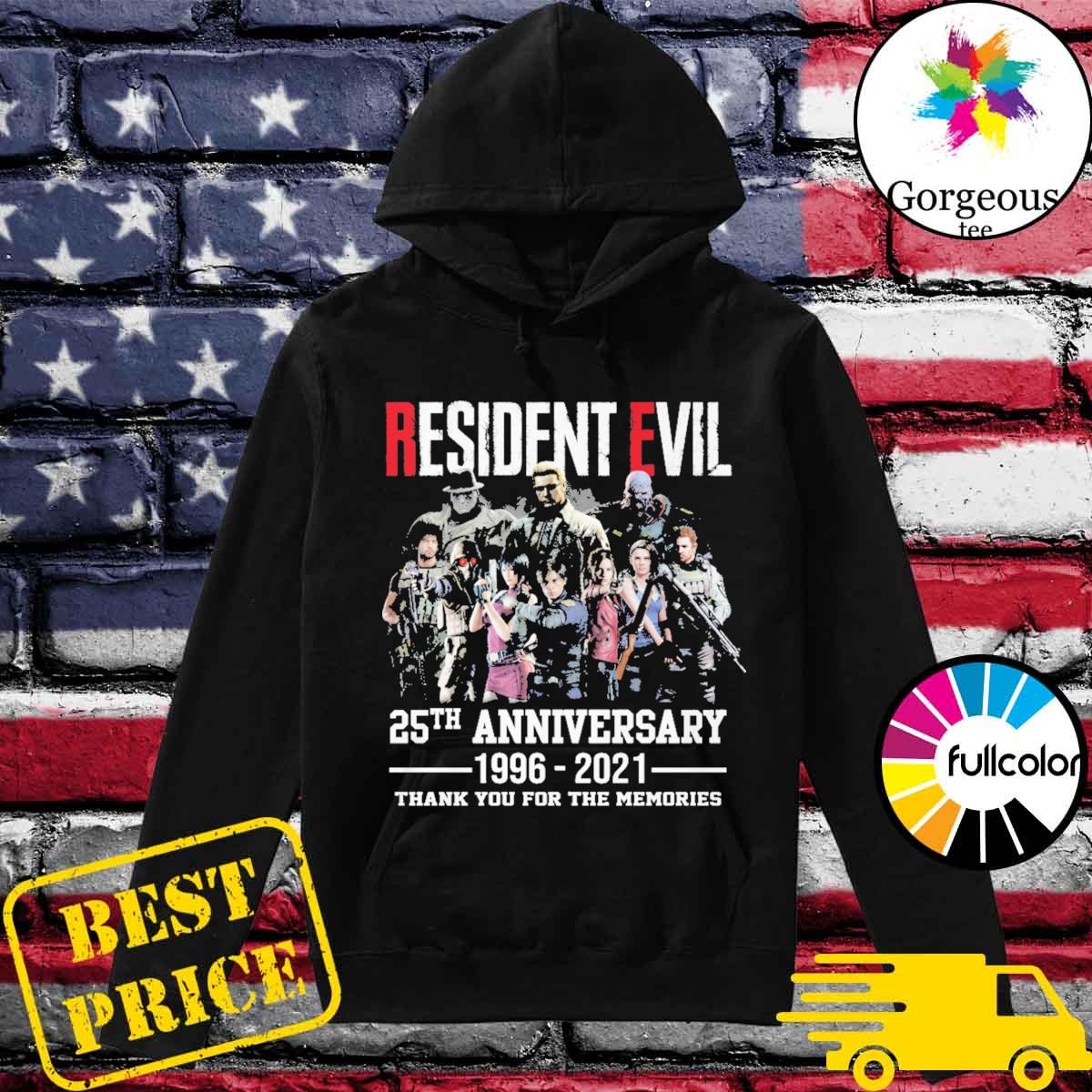 Resident Evil 25th Anniversary 1996 2021 thank you for the memories s Hoodie