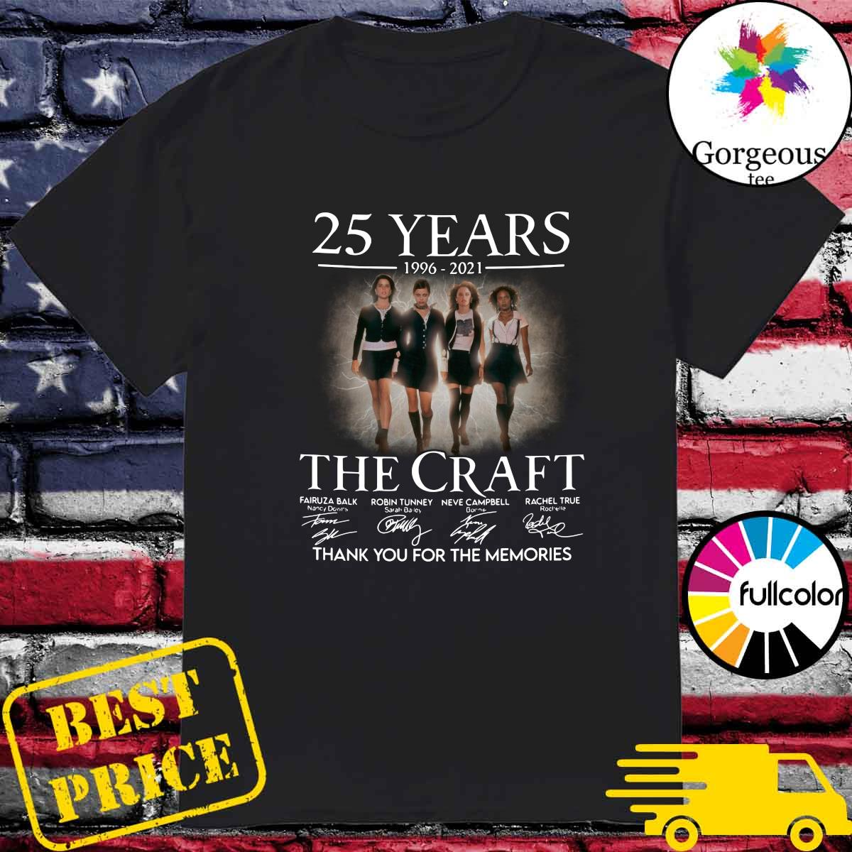 Official 25 Years 1996 2021 Of The Craft Signatures Thank You For The Memories Shirt