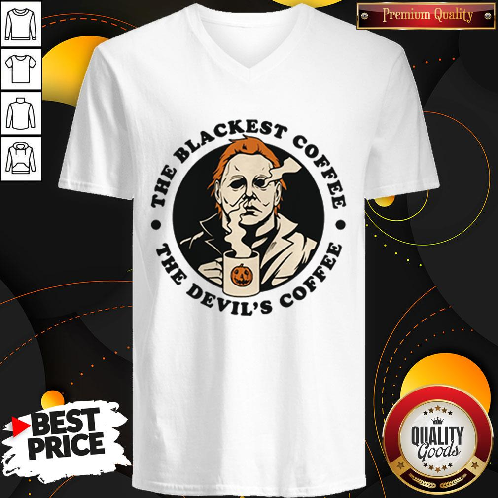 Michael Myers The Blackest Coffee The Devil's Coffee V-neck