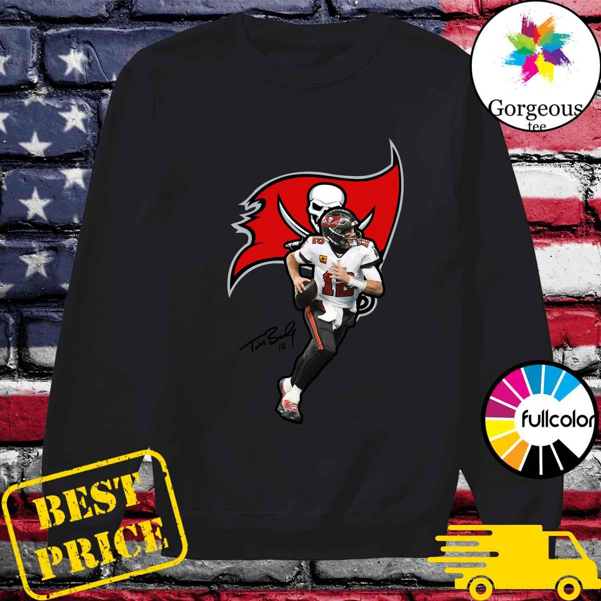 2021 Tom Brady Of Tampa Bay Buccaneers Shirt Sweater