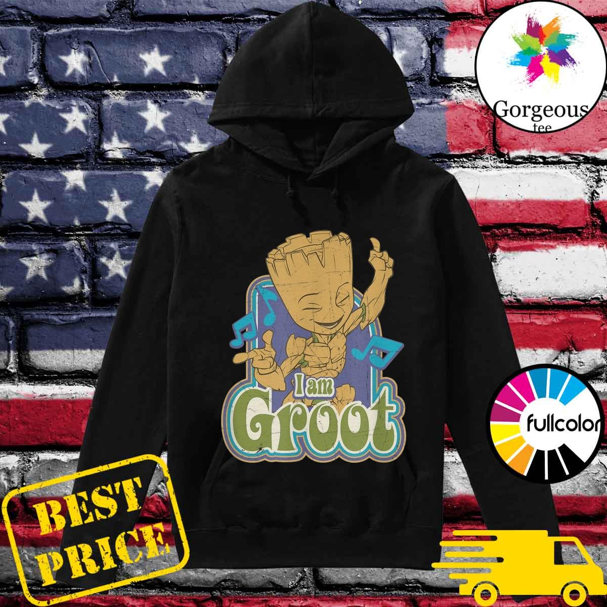 Groot Listening Mucsic With I'm A Groot Shirt Hoodie