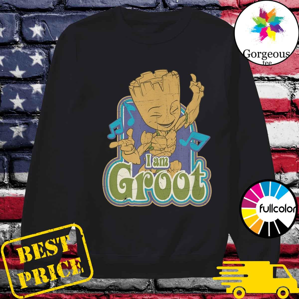 Groot Listening Mucsic With I'm A Groot Shirt Sweater