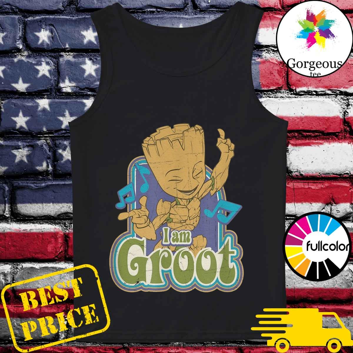 Groot Listening Mucsic With I'm A Groot Shirt Tank-top