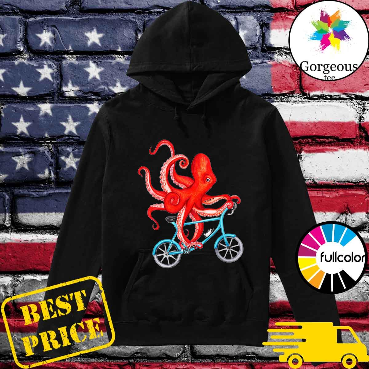 Octopus Bicycle Riding Shirt Hoodie
