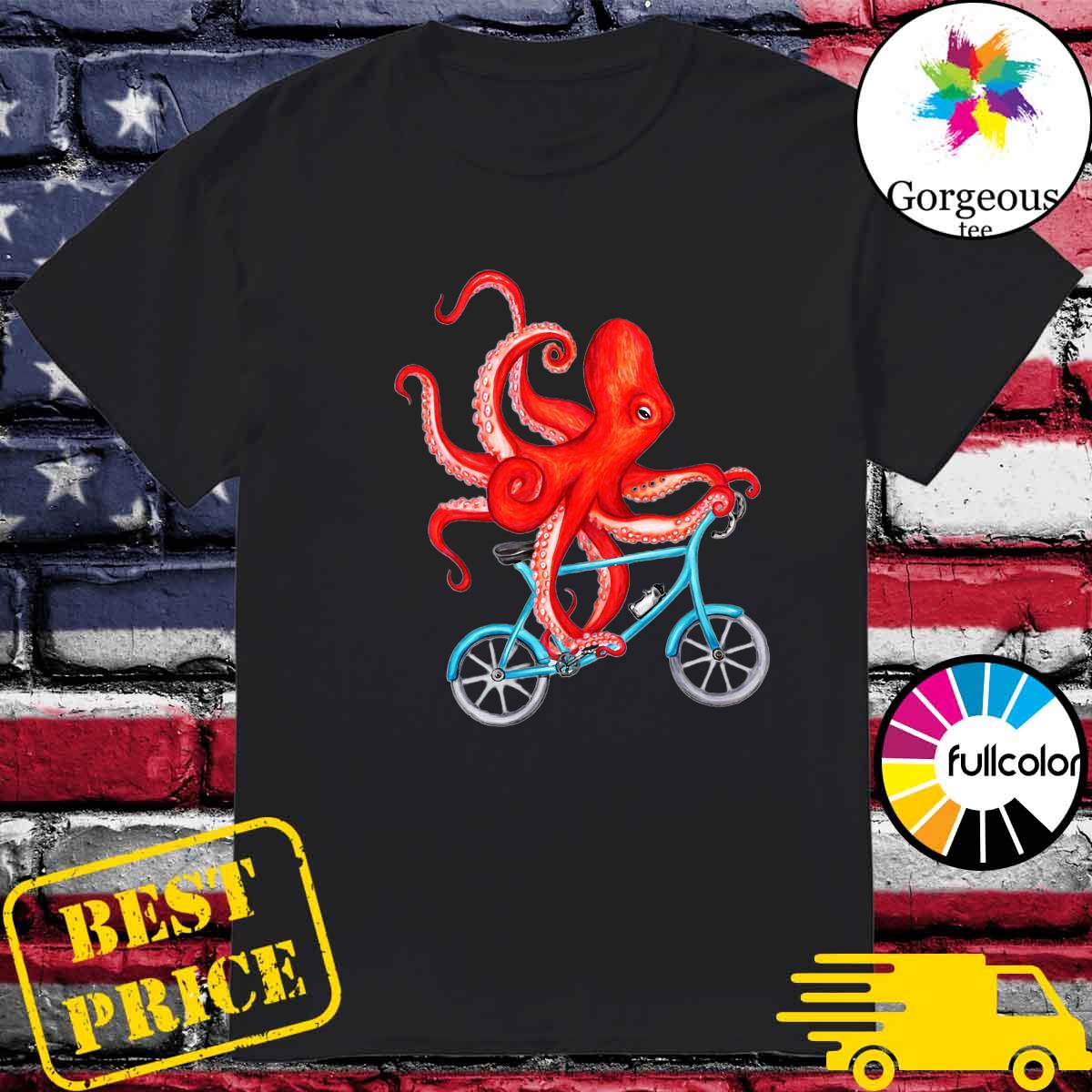 Octopus Bicycle Riding Shirt