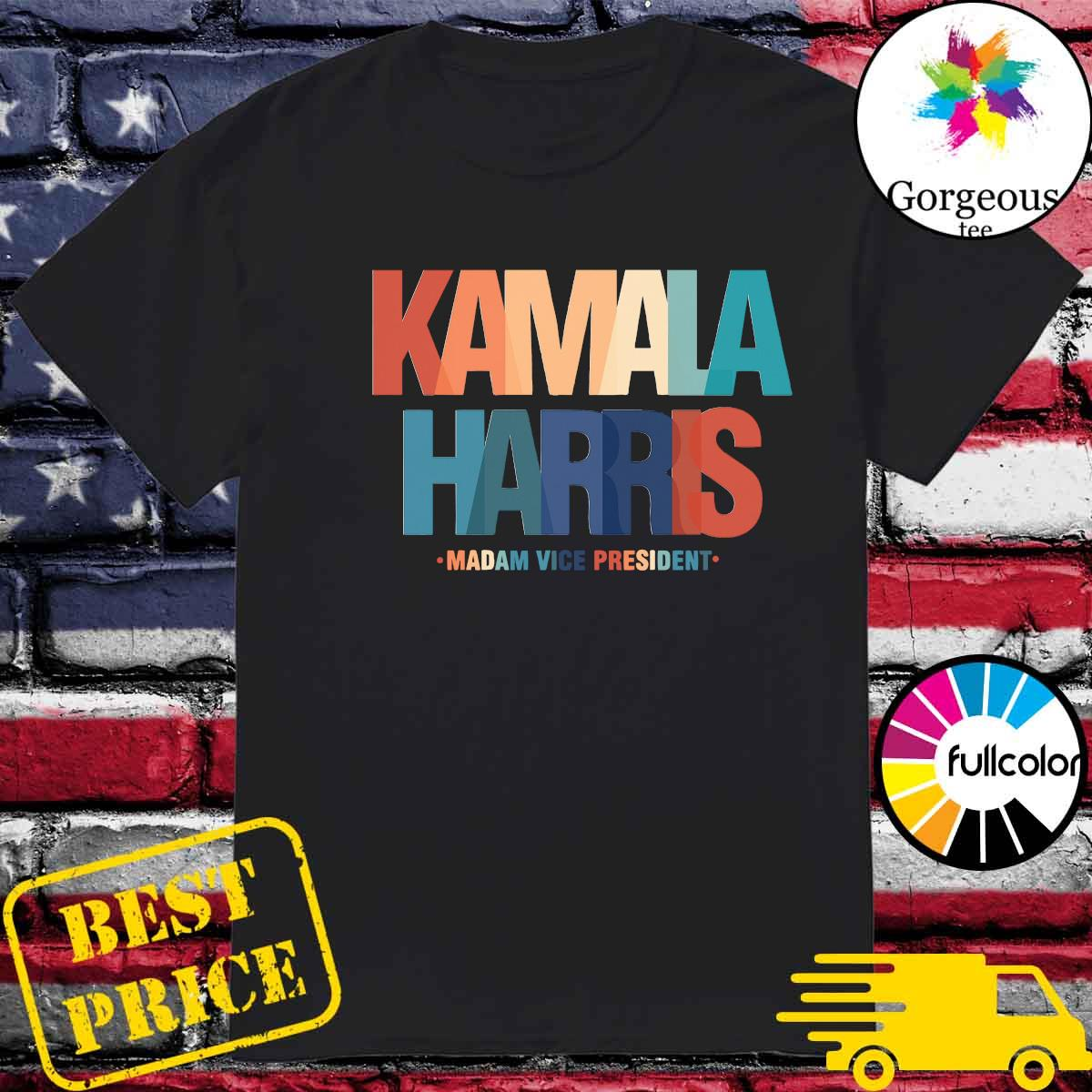 Official Color Kamala Harris Madam Vice President 2021 Shirt