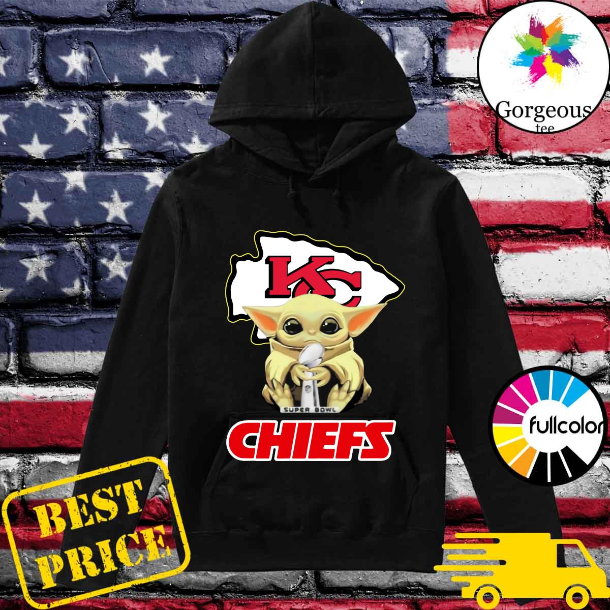 Official Kansas City Chiefs With Baby Yoda Hug Super Bowl Cup Champions 2021 Shirt Hoodie