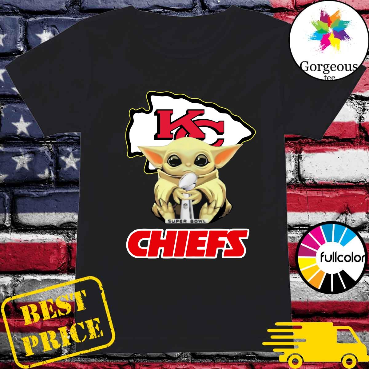 Official Kansas City Chiefs With Baby Yoda Hug Super Bowl Cup Champions 2021 Shirt Ladies