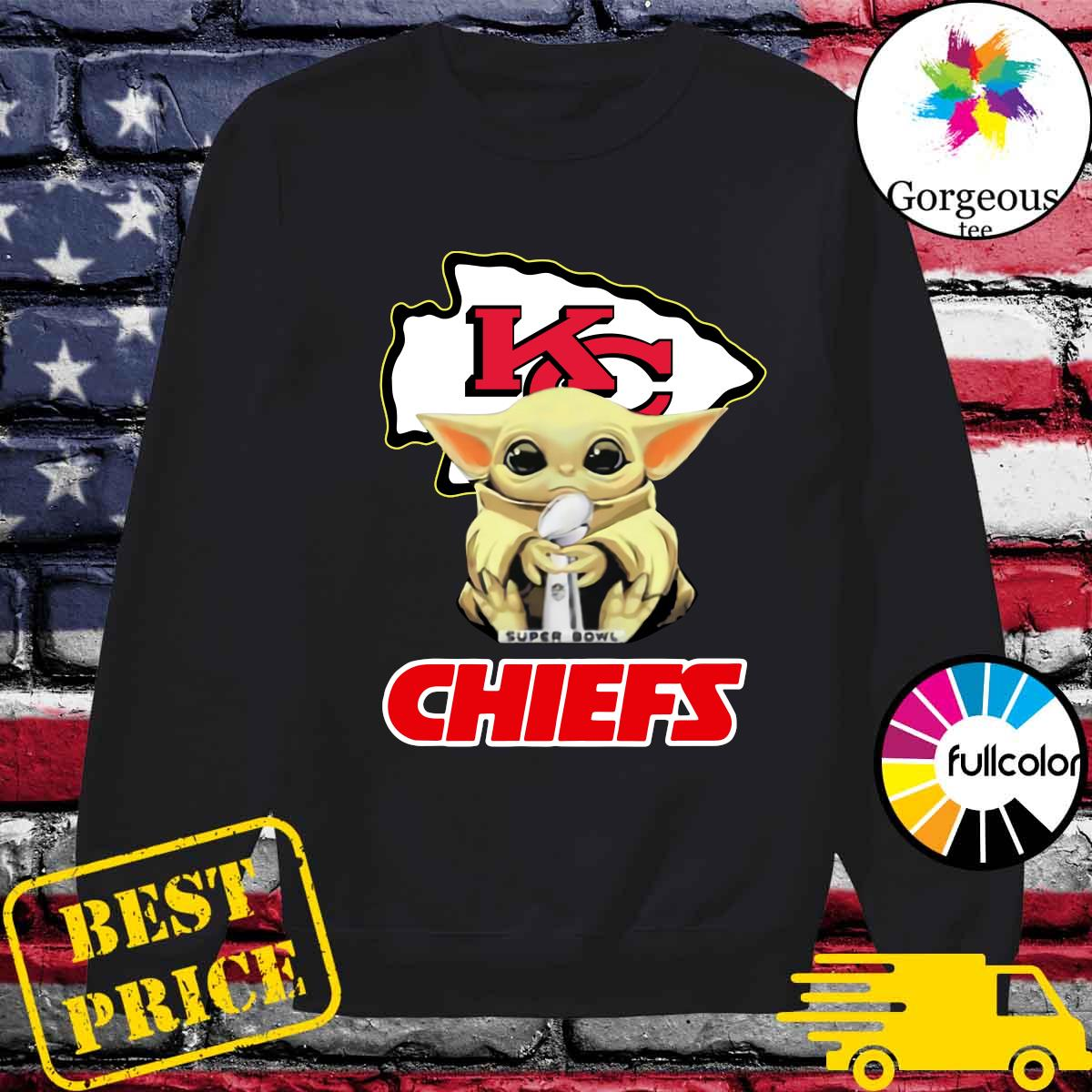 Official Kansas City Chiefs With Baby Yoda Hug Super Bowl Cup Champions 2021 Shirt Sweater