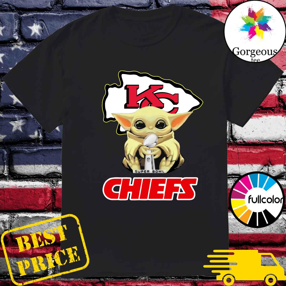 Official Kansas City Chiefs With Baby Yoda Hug Super Bowl Cup Champions 2021 Shirt