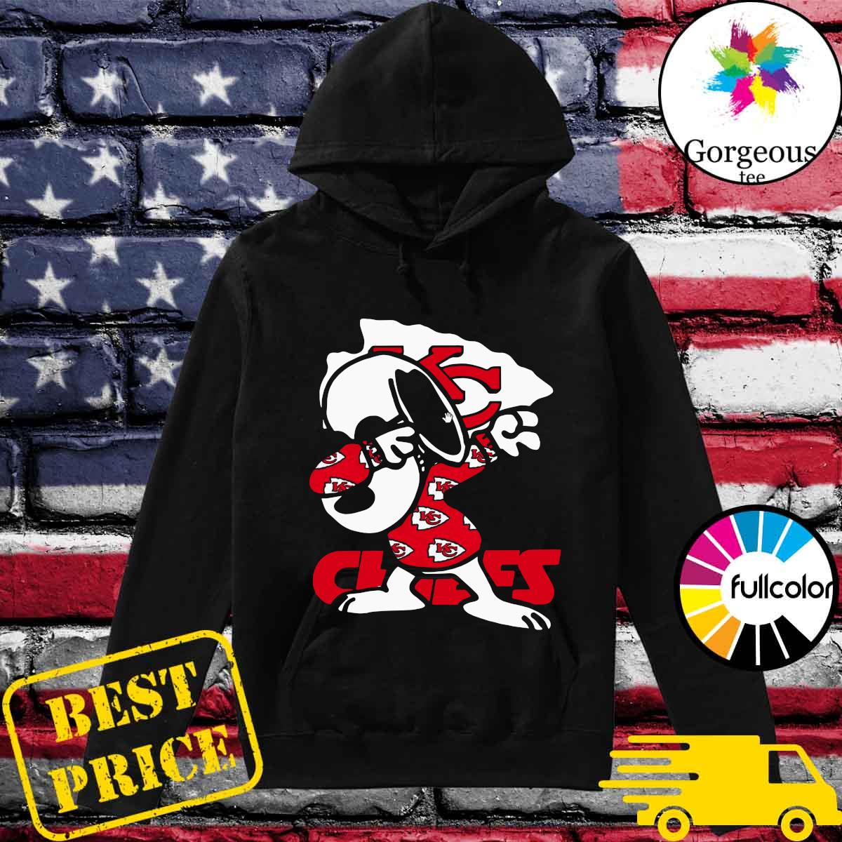 Official Snoopy Dabbing With Kansas City Chiefs 2021 Shirt Hoodie