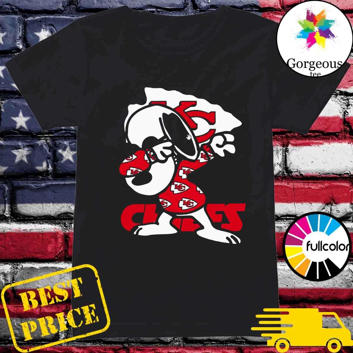Official Snoopy Dabbing With Kansas City Chiefs 2021 Shirt Ladies