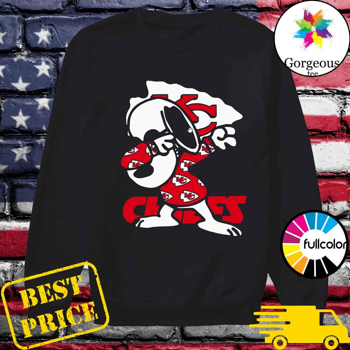 Official Snoopy Dabbing With Kansas City Chiefs 2021 Shirt Sweater