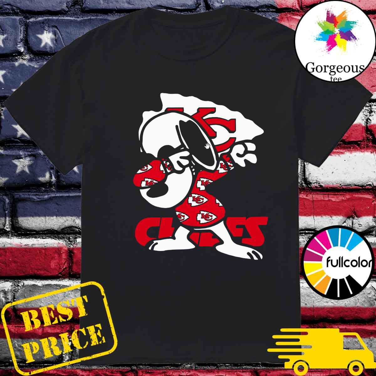 Official Snoopy Dabbing With Kansas City Chiefs 2021 Shirt