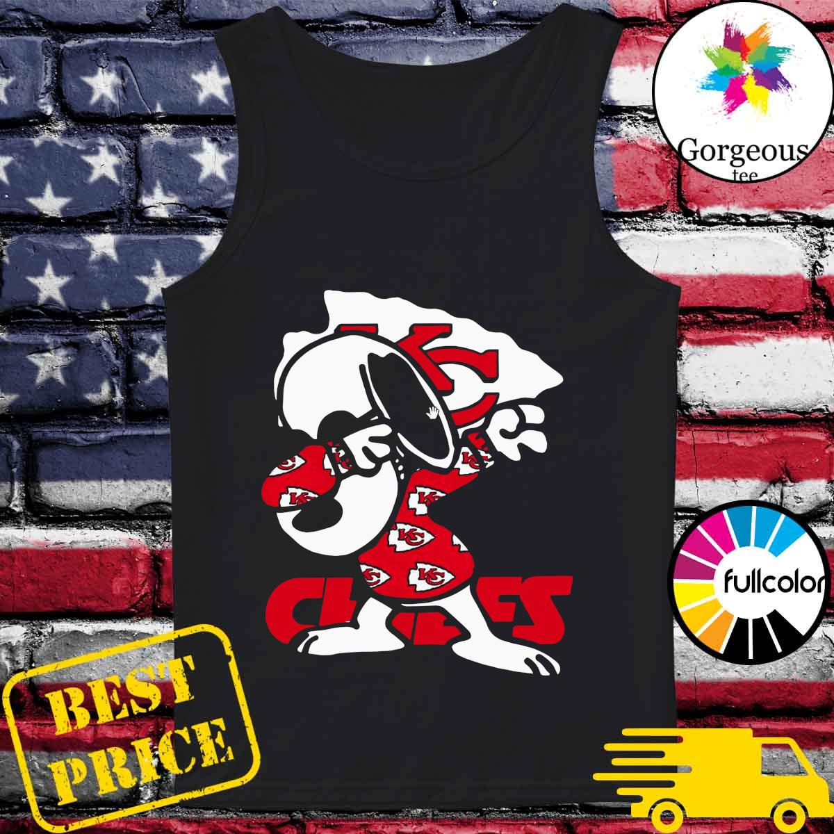 Official Snoopy Dabbing With Kansas City Chiefs 2021 Shirt Tank-top