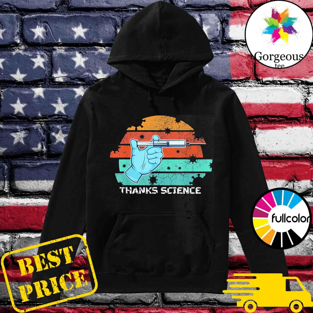 Thanks Science Pro Vaccine Vaccination Vintage T-Shirt Hoodie