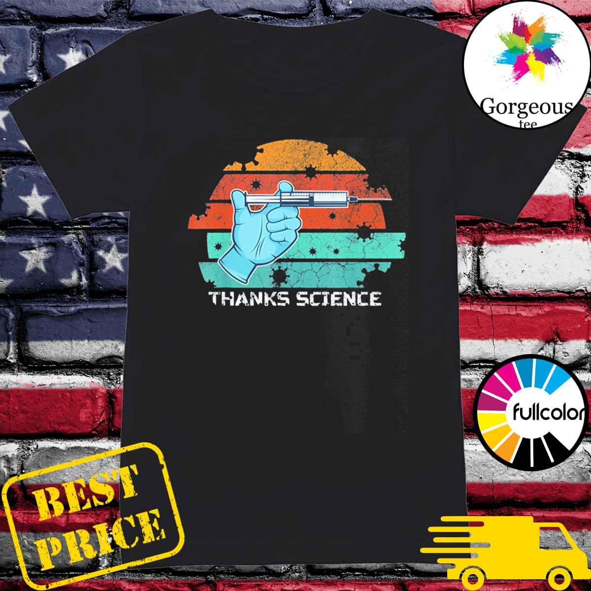 Thanks Science Pro Vaccine Vaccination Vintage T-Shirt Ladies