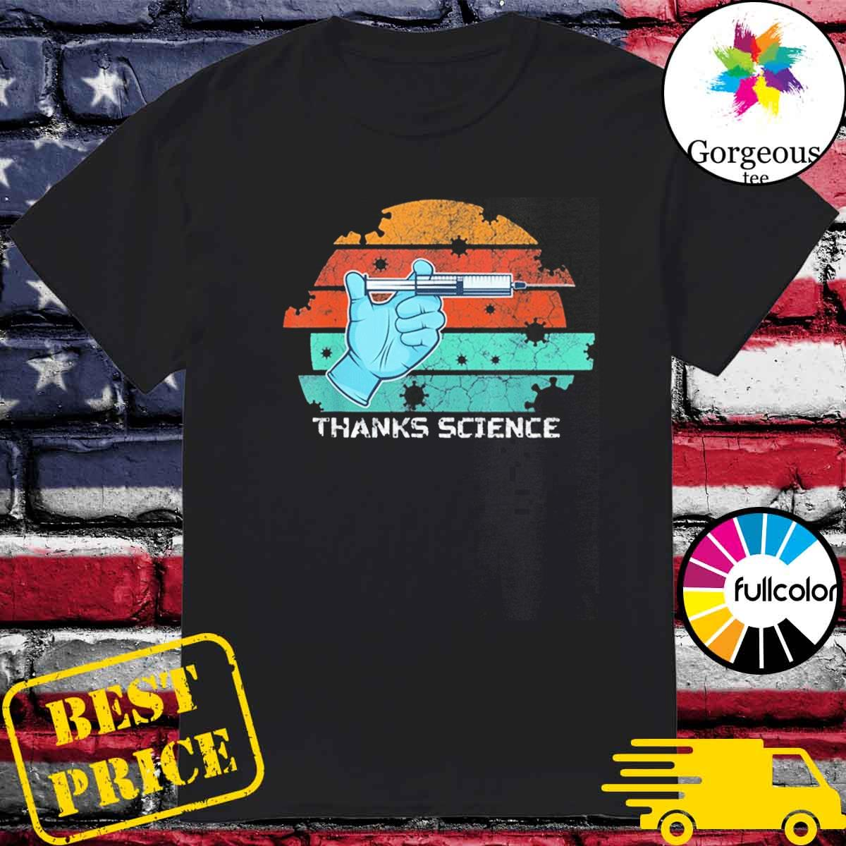 Thanks Science Pro Vaccine Vaccination Vintage T-Shirt