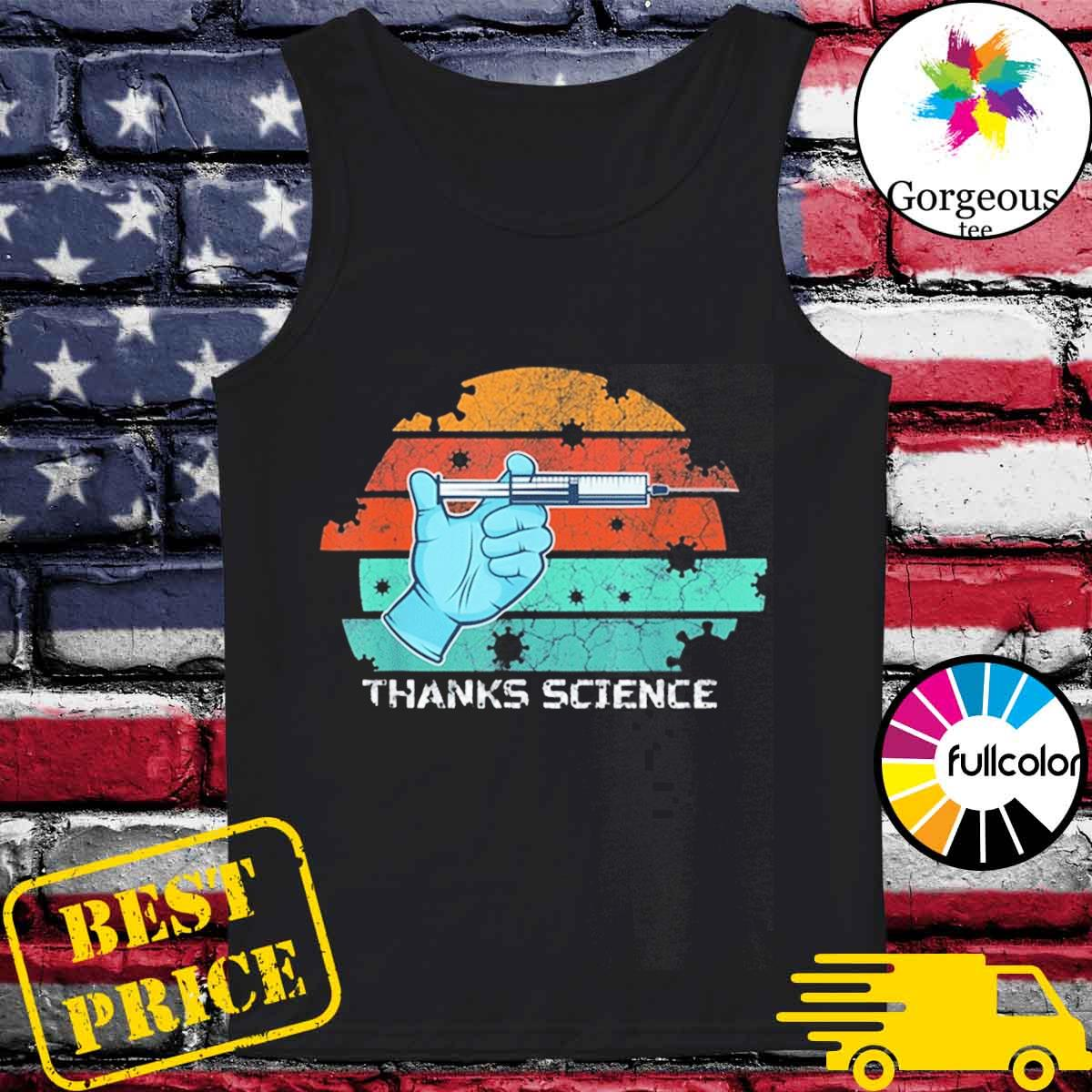 Thanks Science Pro Vaccine Vaccination Vintage T-Shirt Tank-top