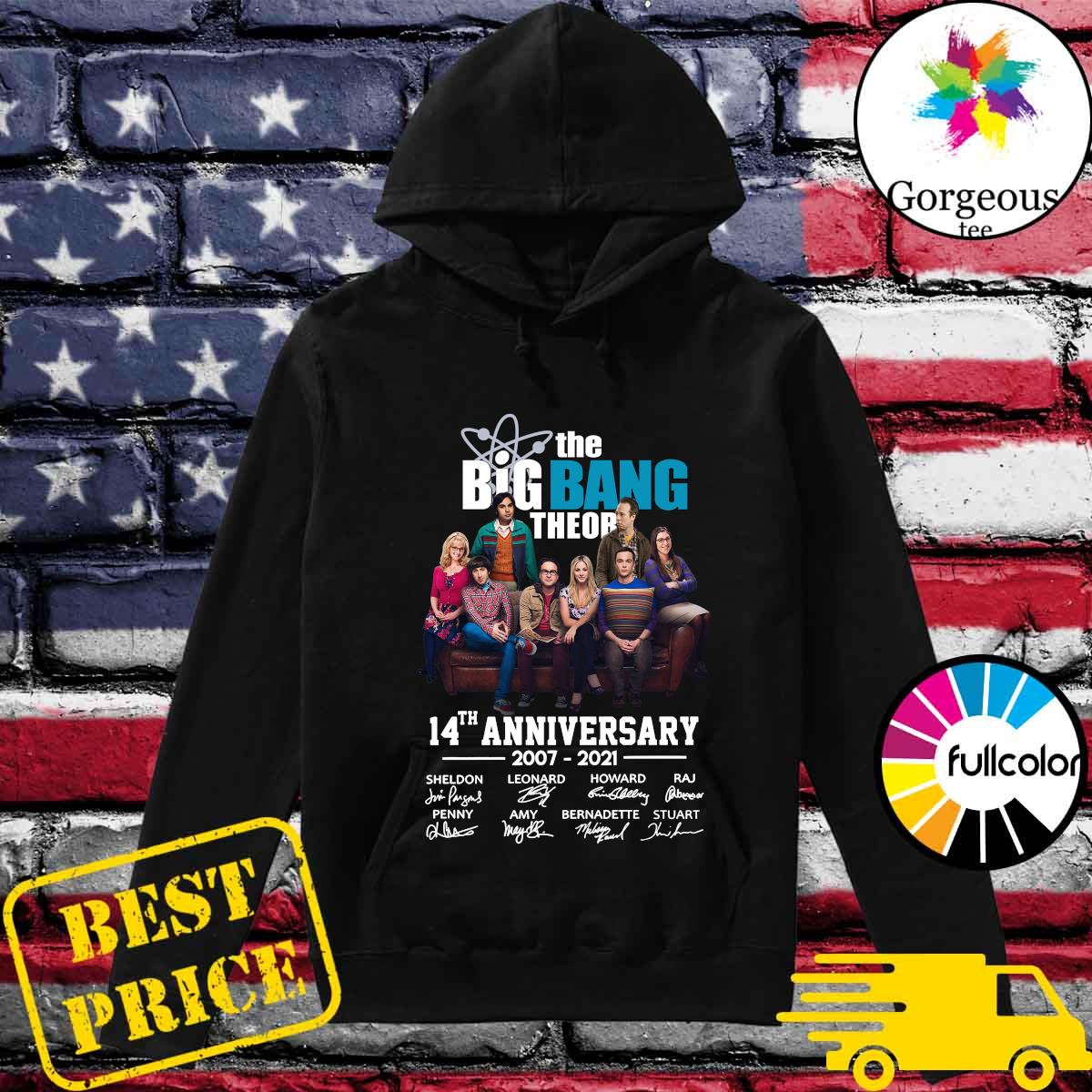 The Big Bang Theory 14th Anniversary 2007 2021 Signatures Shirt Hoodie