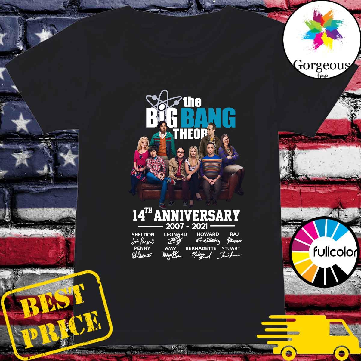 The Big Bang Theory 14th Anniversary 2007 2021 Signatures Shirt Ladies