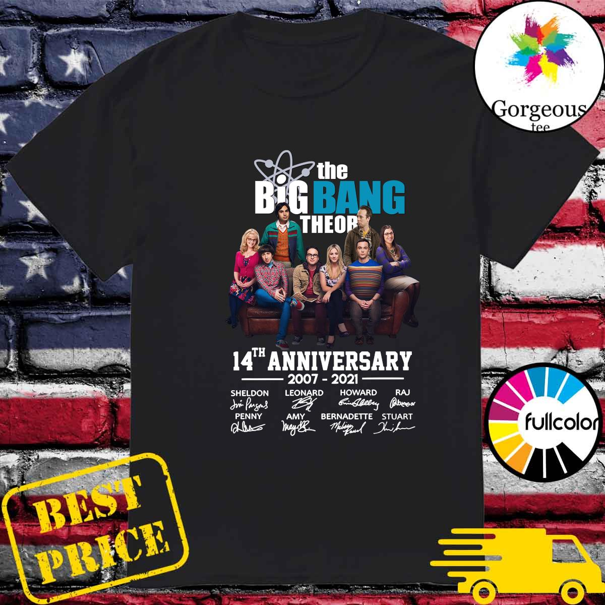 The Big Bang Theory 14th Anniversary 2007 2021 Signatures Shirt